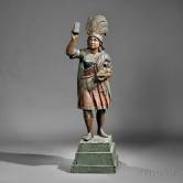 Polychrome Carved Indian Princess Tobacconist Figure