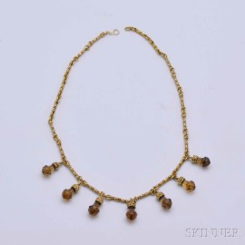 14kt Gold and Citrine Necklace