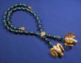 18kt Gold and Lapis Lariat