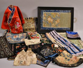 Group of Embroidered Textile Items