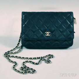Chanel Navy Blue Quilted Lambskin Cross-body Bag