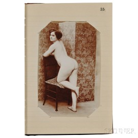 Erotica, Engravings, Tinted Prints, and Photographs, Two Albums.