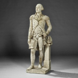 Full-length Carved Marble Statue of General George Washington