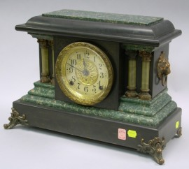 Seth Thomas Black Mantel Clock