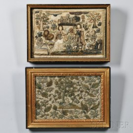 Two English Needlework Pictures