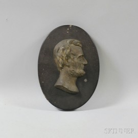 Lincoln Bust Plaque