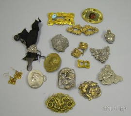 Assorted Art Nouveau, Rococo Revival and Other Jewelry and Accessories