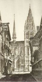 John Taylor Arms (American, 1887-1953)  Lot of Six Prints From the French Church Series: