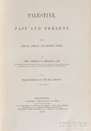 Osborn, Reverend Henry S. (1814-1895) Palestine, Past and Present