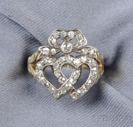 Antique Diamond Sweetheart Ring