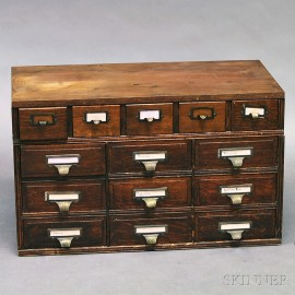 Oak Countertop File Cabinet