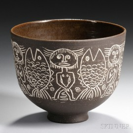 Edwin and Mary Scheier Decorated Bowl