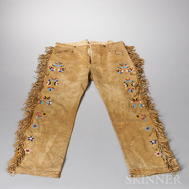 Sioux Beaded Hide Trousers