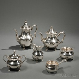 Five-piece Gorham Sterling Silver Tea and Coffee Service