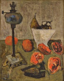 Raymond Guerrier (French, 1920-2002)      Still Life with Pomegranates