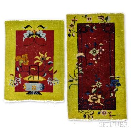 Two Small Chinese Nichols Mats,