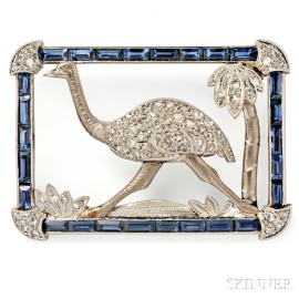 Whimsical Art Deco Brooch