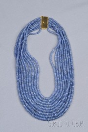 Multi-strand Sapphire Bead Necklace