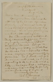 Twain, Mark (1835-1910) Autograph Letter Signed, Highfield House, Guildford, England, 18 August 1896.