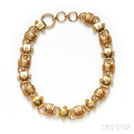 Bicolor Gold and Diamond Necklace