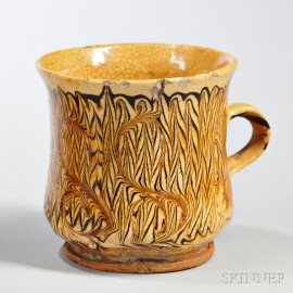 Staffordshire Combed Slipware Drinking Cup