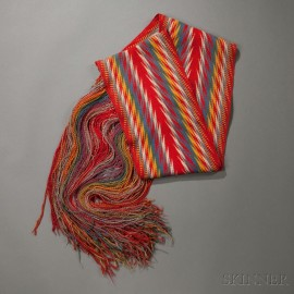 Cree Multicolored Wool Assumption Sash