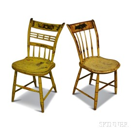 Two Stenciled and Paint-decorated Fancy Chairs