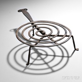 Wrought Iron Spiral-form Revolving Broiler
