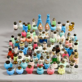 Approximately 107 Glass Salt Shakers