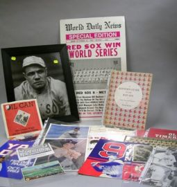 Collection of Boston Red Sox Related Items