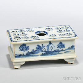 Tin-glazed Earthenware  Casket