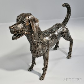 Eric Jupp Brutalist Dog Sculpture