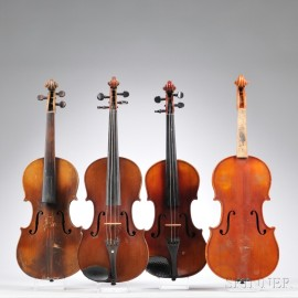 Four Full Size Violins
