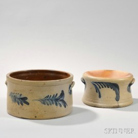 Two Cobalt-decorated Pennsylvania Stoneware Crocks