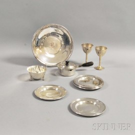 Four Sterling and Seven Silver-plated Hollowware Items