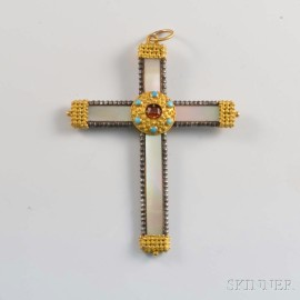 Mother-of-pearl Cross Pendant