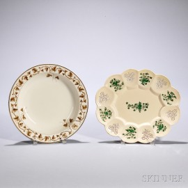 Two Creamware Dishes