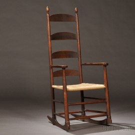 Shaker Brown-Red-painted Rocking Chair