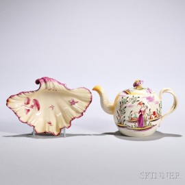 Two Creamware Table Items