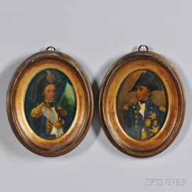 Pair of Engraved Portraits of Admiral Nelson