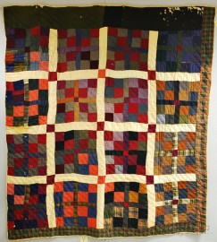 "Pieced Linsey-woolsey Quilt and a ""Four Patch"" Quilt"