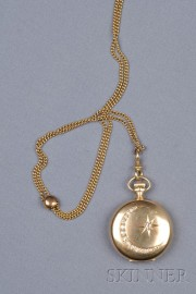 14kt Gold and Diamond Hunting Case Pocket Watch, Waltham