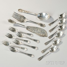 Fifteen Pieces of Tiffany & Co. Sterling Silver Flatware