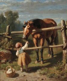 Alexandre Josquin (French, active 1842, d. 1870)      A Nibble for the Horse