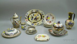 Sixteen Pieces of Assorted English Staffordshire Tableware