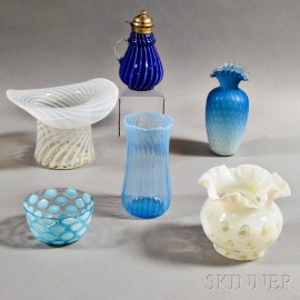 Six Pieces of Art Glass