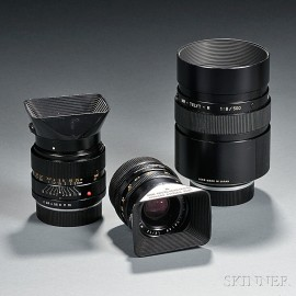 Three Leitz Lenses in Leica-R-Mount