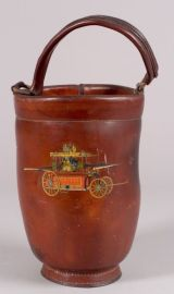 Red-painted Leather Fire Bucket