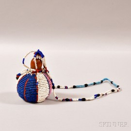 Zulu Beaded Gourd Necklace