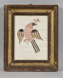 Framed Print of an Eagle with Olive Branch